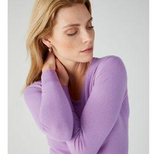 PURE 14/16  100% Cashmere Vneck Knit sweater